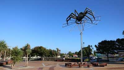 Avondale Spider Sculpture in Auckland Central, New Zealand
