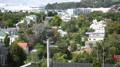 Eden Terrace Suburb in Auckland Central, New Zealand
