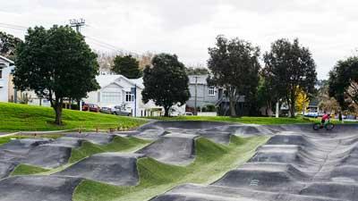 Grey Lynn Park Pump Track in Auckland Central, New Zealand