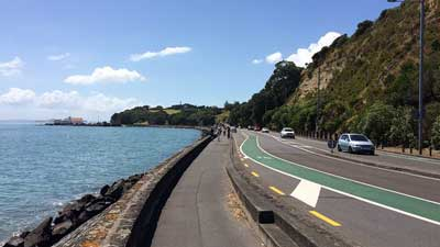 Tamaki Drive in Auckland Central, New Zealand