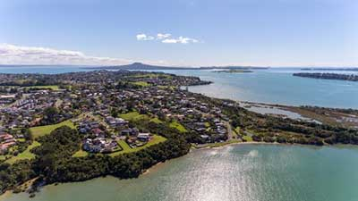 Wai o Taiki Bay Suburb in Auckland Central, New Zealand
